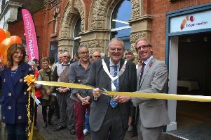 Mayor of Melton, Councillor Malise Graham, and council chief executive, Edd de Coverly, cut the ribbon to officially open the Hope Centre in Melton EMN-190411-145018001