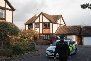 Photos of the scene watch on Kestrel Way, Buckingham (picture taken on November 11)