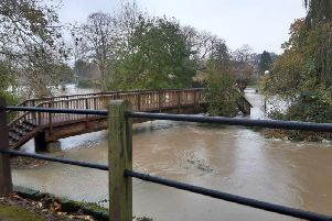Flooding on approaches to the University of Buckingham
