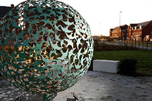 The Verdigris and Gold Swift Sphere in Kingsbrook