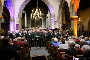 The Pontarddulais Male Voice Choir performing at St Laurence's Church, Winslow