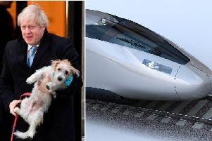Boris Johnson and HS2 Train