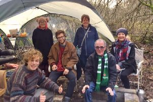 The Wendover Active Resistance and Anti-HS2 SOC (Save Our Countryside) around the campfire