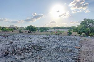Destroyed farmland in Mozambique