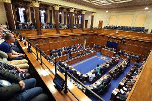 The first sitting of the Northern Ireland Assembly in three years. Photo: Kelvin Boyes /Press Eye.