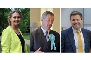 South-East MEPs Judith Bunting, Nigel Farage and Anthony Hook