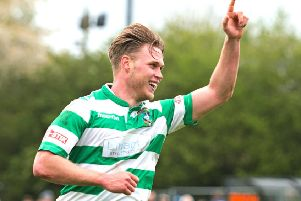 Aaron Berry celebrates. Picture: Mike Snell