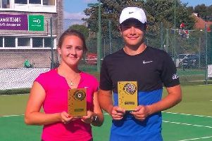 Chloe Efford and Aaronn Blackman won the Champion of Champions mixed doubles title