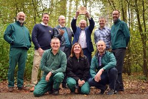 Mr Doar joined Mr Dalby, landscape asset manager Richard Watson and the ground services managers from each village to hand over the award