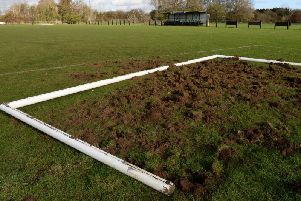 Vandalism at Winslow United Football Ground