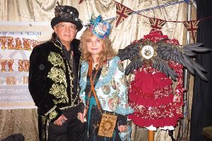 Christina Ruby Willow and Dante Prince at the Steampunks' Variety Show, Spilsby Theatre. Images supplied