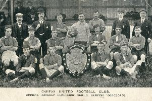 Carfax United football club, winners of the Horsham Challenge Shield, seasons 1902, 1903, 1904, 1905