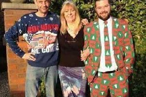 Bereaved Susan Curtis, aylesbury and 2 sons Marc Rose (left) & Michael Chapman (right)