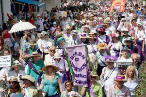The Women's Voices march in Hastings and St Leonards last summer. Picture: Roberts Photographic