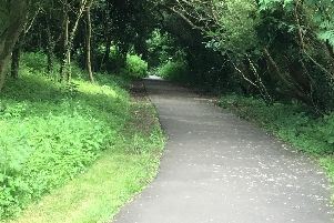 The Railway Walk footpath in Buckingham