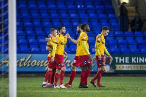 Cobblers won at Prenton Park for the first time since 1986 on Tuesday. Picture: Kirsty Edmonds