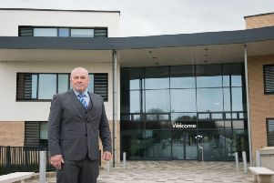 Aylesbury Vale Academy principal Roger Burman outside the school