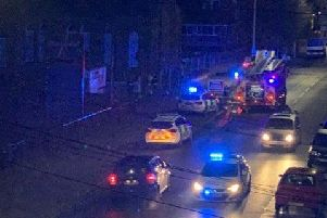 Emergency services back at the builder's yard in Roman Bank, Skegness, for the second night running.