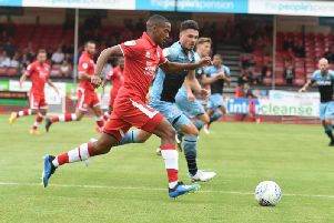 Lewis Young's deflected goal saw Crawley claim a point last week