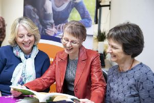 Pictured l-r: Ginny Williams-Ellis, Verity Cross and Lynne Parker.