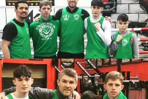 Sean Leahy, Freddie Finn and Emre Stack met some of their heroes on a trip to Gallaghers Gym in Bolton