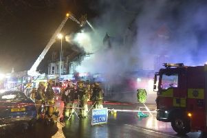 Six crews attended the fire (Picture: Northamptonshire Fire and Rescue Service)