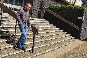 Sean Stillwell, pictured outside Hove Crown Court, was spared jail