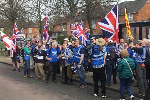 Pro-Brexit campaigners in Buckingham
