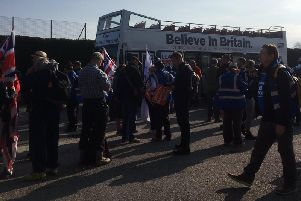The Leave Means Leave march makes its way through Aylesbury