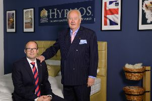 From left, James Keen, managing director of Hypnos, with Peter Keen, chairman.