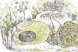 A drawing of the Grace & Dignity Garden, which Lucie Ponsford will be displaying at an RHS show in Malvern next month