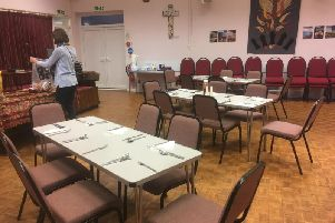 Granville Street Church set up ahead of one of the meals