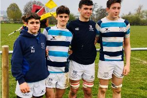 The four county U17 stars from Bognor RFC