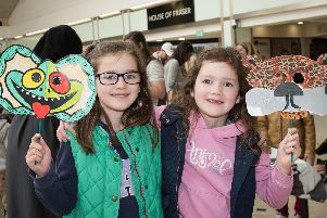 Youngsters enjoy getting crafty at an animal-themed event at Friars Square Shopping Centre