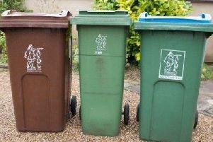 Library image of recycling bins