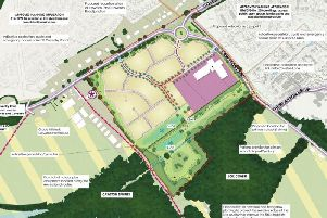The indicative masterplan for the estate
