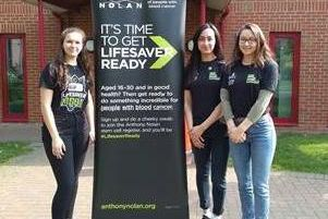 Some of the Aylesbury High School students who signed the stem cell donation register