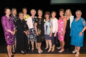 Members of the Bucks Federation of Women's Institutes at the annual council meeting at the Waterside, Aylesbury