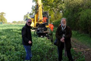 Anti-HS2 campaigners Frank Mahon and Ivo Haest