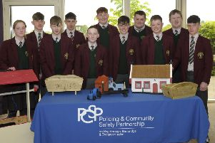 The PCSP organised an event  in Craigavon Civic Centre to celebrate the joing partnership between St Ronan's pupils Lurgan and the Mens Shed. �Edward Byrne Photography