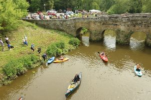 The annual river rally at Stopham Bridge