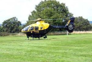 Stock image of TVP police helicopter