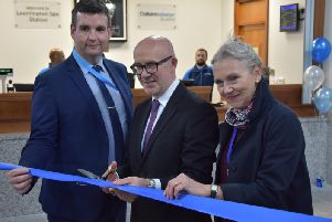 Warwick and Leamington MP Matt Western officially reopens Leamington Station after its refurbishment by Chiltern Railways.