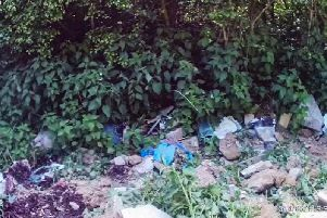 The rubbish dumped