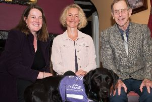 Canine Partners provides ongoing support for a special dog called Barry to Swanbourne resident Jo Hill thanks to the genorosity of Winslow's Roger Jefcoate CBE PNL-190618-213557009