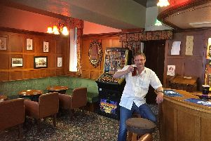 Richard Sheath enjoying a pint