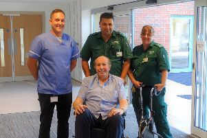 David Carson arrived at the hospice's new premises
