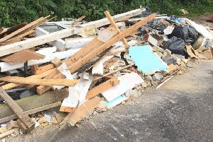 Flytipping incident in West Sussex