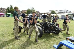 Jamie's Wish Trust 13th annual Family Fun Day.''Pictured are the Sussex Army Cadet Force, Kit Kar Display Team. ''Littlehampton, West Sussex. ''Picture: Liz Pearce '''20/07/2019''LP190921 SUS-190720-224809008