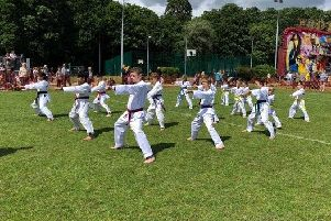 Some of young fighter Chloe Dutton's team-mates from BJ Academy put on a demonstration at Abbots Langley Carnival last month to help raise funds for Chloe's trip to Croatia.
